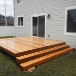 Cedar deck, finished product with steps