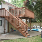 New deck using ultra deck treated wood product