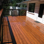 Treated Ultra Deck, hand rails and decking,