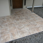 New outdoor tile entryway for ironwood deck project