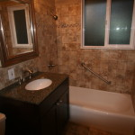 Tile bathroom project, new sink, vanity and medicine chest