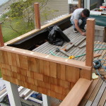 Putting in sleeper deck and siding