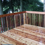 Knotted cedar deck project